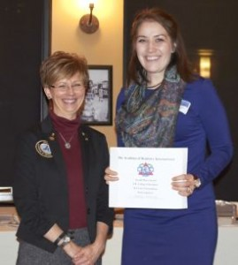 Second Place Awardee Amanda Sonntag with Dr. Cheryl Mora