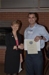 UIC COD DMD AS Third Place Winner, Haider Aljewari with Dr. Cheryl Mora