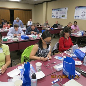 Doctors learning how to make provisional restorations for veneer preparations