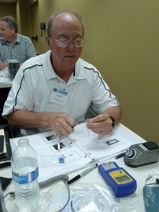Dr. Don Rastede learning to activiate a clear aligner appliance