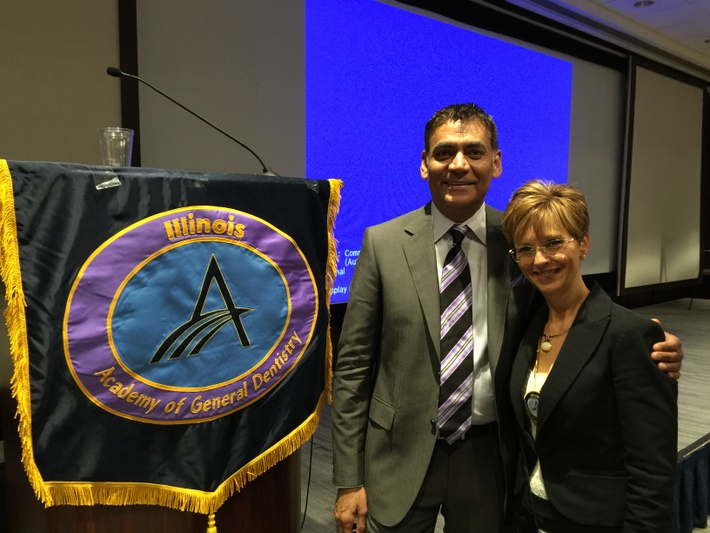 Dr. Paresh Shah, Speaker with Dr. Cheryl Mora, IL AGD Past President and CE Chair