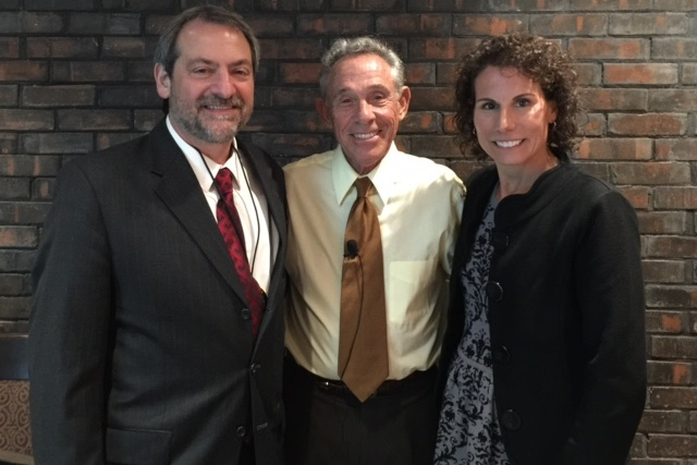 Dr. Steve Petras, IL AGD Vice-President, Dr. Marvin Berman, Speaker and Dr. Beth Sacrey, VP NIAGD