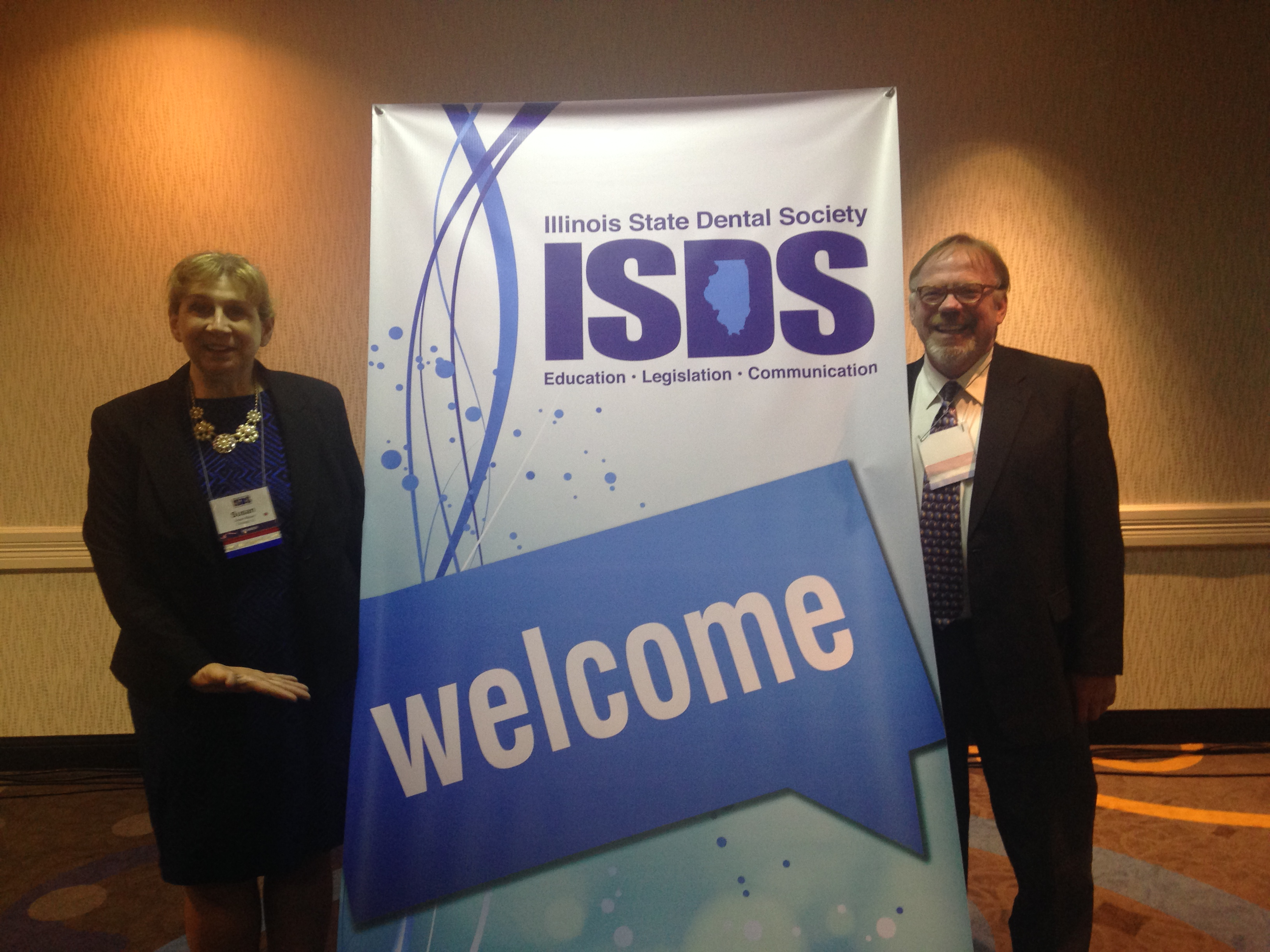 Dr. Sue Mayer, President IL AGD with Dr. Randy Ashton, Past President IL AGD and the IL AGD Rep on the ISDS Dent IL PAC