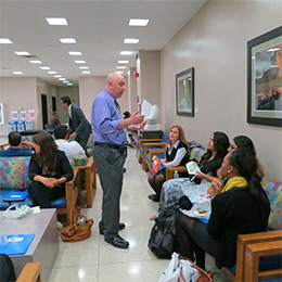 Dr. Spencer Bloom, ILAGD Board Member with new D-1 students