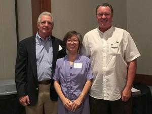 Drs. Bill Lawley CAGD VP, Judy Fan-Hsu CAGD editor, Doug Brown CAGD board member