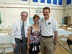 Drs. Kevin King, Faculty, Cheryl Mora, Imm. Past President IL AGD and Dr. George Zehak, President Elect CDS