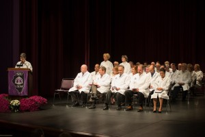 Drs. Sue Bishop and Dawn Silfies SIU 2015 White Coat Ceremony