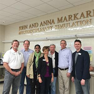 Drs. Kirk Hess, Paul Obrock, Bethel Buerk, Cheryl Mora, Sy Wachtenheim, Brenden Moon & Speaker, Dr. David Landwehr
