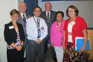 Drs. Cheryl Mora, Larry Williams, Ryan Farhani, Lex MacNeil, Theresa Lao and Kathleen O'Louglin