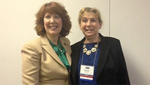 Dr. Sue Mayer, IL AGD President with Representative Carol Sente (D) District 59