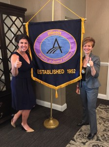 Kristie Nation, Speaker and Dr. Cheryl Mora, Past President IL AGD