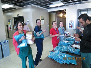AGD Logo scrubs to the new international students