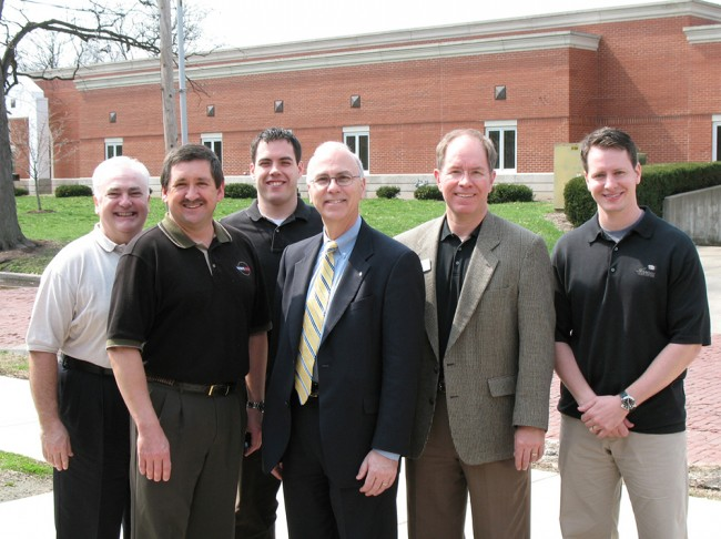 Left to Right: Dr. Keith Dickey, SIUSDM Dr. Curtis Mitchem, CIAGD President Dr. Patrick McShane