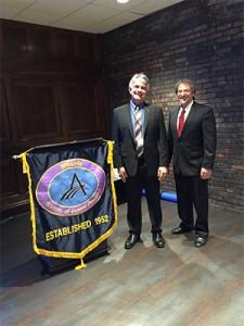 Dr. John Kalmar, speaker and Dr. Steve Petras, IL AGD President Elect