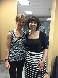 Dr. Cheryl Mora, Mastertrack Committee with Dr. Carla Cohn, Speaker