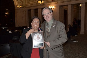 Dr. Theresa Lao, New PFA inductee with Dr. Kevin King, PFA Fellow; both have received the Distinguished Dentist Citation