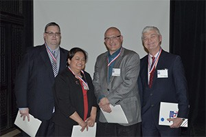 Drs. Brent Jenkins, Theresa Lao, Sal Storniolo, and Larry Williams, Illinois Inductees Pierre Fauchard Academy