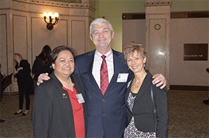 Drs. Theresa Lao & Larry William Pierre Fauchard Inductees with Dr. Cheryl Mora