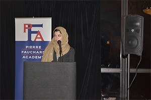 Midwestern University CODM-IL Student Wajiha Tariq speaking about the future of dentistry and Dr. Theresa Lao