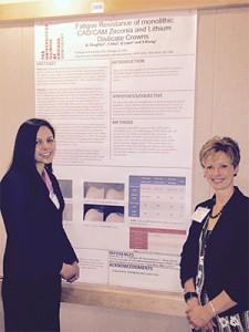 Asima Chughtai, UIC COD A-1 Presenter with Dr. Cheryl Mora, IL AGD