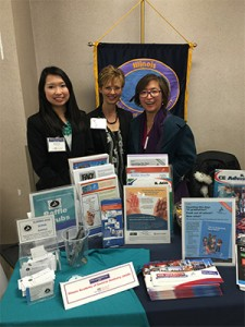 Katrina Lo, UIC COD A-2 Denta Student with Drs. Cheryl Mora and Judy Fan-Hsu, IL AGD
