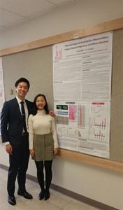 Steve Kim and BoYeon Kim-Barilotta at Research Day