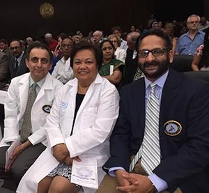 Drs. Ryan Vahdani-AGD member, Theresa Lao-IL AGD Board Member and Muzammil Saeed-IL AGD Secretary