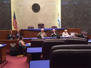 Dr. Larry Williams testifying at the Chicago City Council Finance Committee