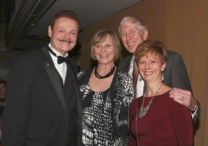 Dr. George Zehak, Dr. John Gerding and his wife, and Dr. Cheryl Mora